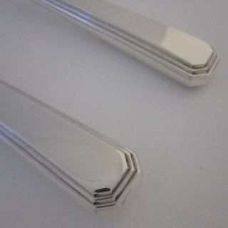Antique Sterling Silver Fish Cutlery Set - 1945