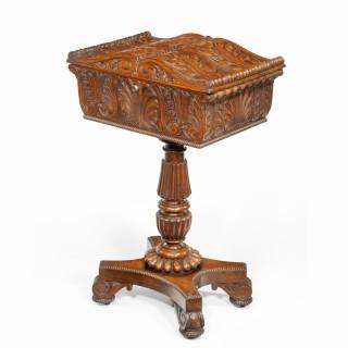 A William IV mahogany teapoy