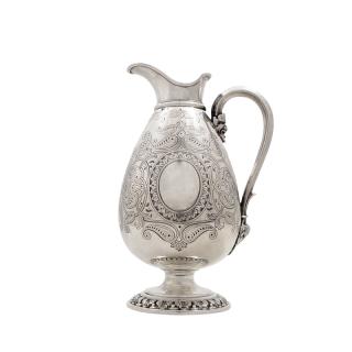 Antique Victorian Sterling  Silver Jug 1861