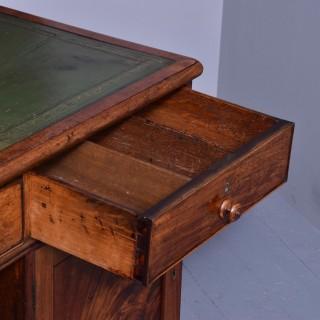 George III Mahogany Partners Desk