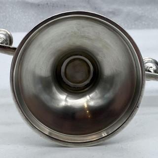 Mid 20th Century Modern Sterling Silver Menorah Birmingham 1963 Adie Brothers Ltd