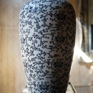 A Large Aesthetic Movement Minton Pottery Vase c.1870-85