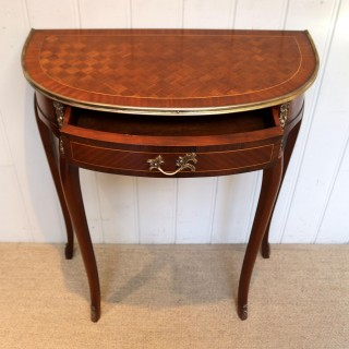 French Mahogany Demi Lune Table