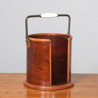 Victorian Mahogany Plate Bucket by Hussey's