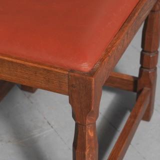 Oak and Leather Stool by Derek 'Lizardman' Slater of Crayke