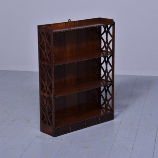 Mahogany Chippendale-Style Wall Shelves