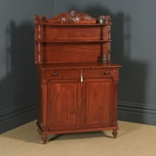 Antique English Georgian Regency Two Door Chiffonier Cabinet Sideboard (Circa 1830)