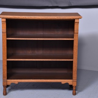 Late Victorian Oak Open Bookcase