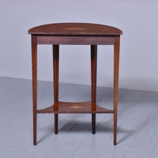 Outstanding Sheraton-style Demi-lune Hall Table