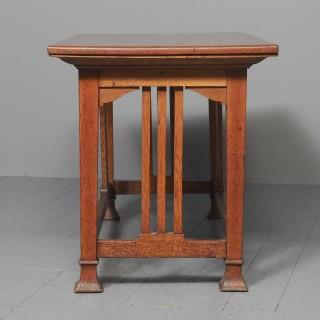 Glasgow Style Art Nouveau Library Table