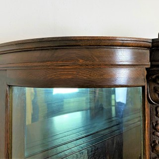 An Early 20th Century Bow Fronted Glazed Display Cabinet