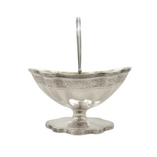 Antique Edwardian Sterling Silver Sugar Basket / Bowl 1907
