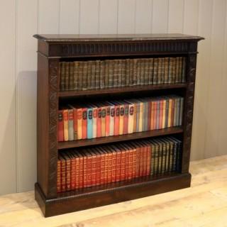 Dark Oak Open Bookcase