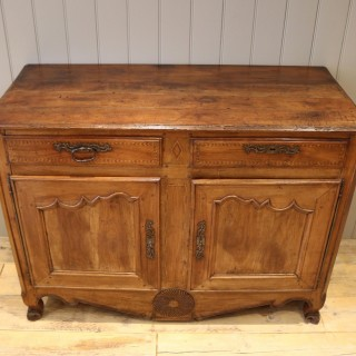 Substantial French Cherry Wood Buffet / Sideboard