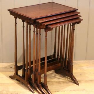 Mahogany Nest Of Four Tables