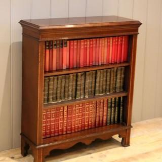 Edwardian Inlaid Mahogany Open Bookcase