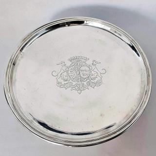 Early 18th Century German Silver Tazza