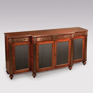 Regency Rosewood and Brass inlaid Chiffonier, after Designs by John Mclean