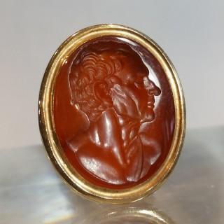 Intaglio of Demosthenes attributed to Burch