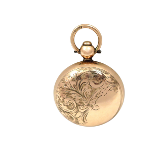 Antique Edwardian 9ct Gold Sovereign Case 1907