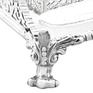 Sterling Silver Gallery Inkstand by Edward Barnard & Sons Ltd - Antique Edwardian