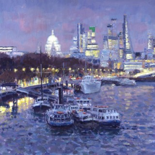 River Thames at Dusk