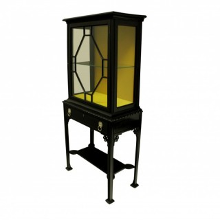 A CHIPPENDALE REVIVAL DISPLAY CABINET