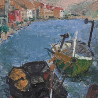 'Puerto de la Selva, Boats' by Margarete 'Grete' Marks (1899-1990)