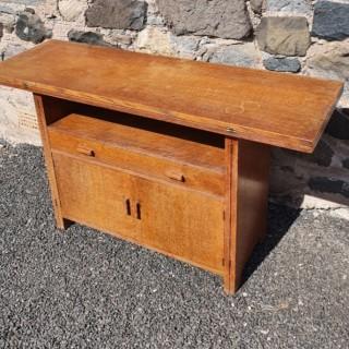 Rare Heal's Oak Cabinet Come Table