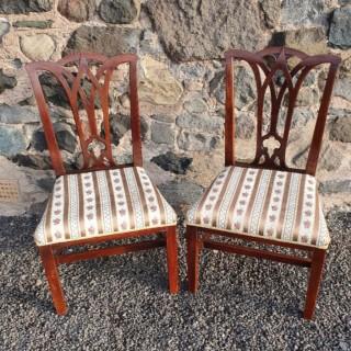 Pair 18th Century Georgian Chairs