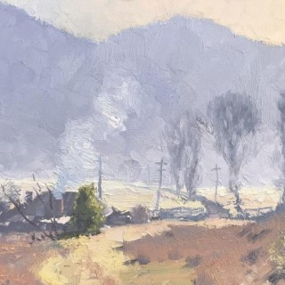 'Winter Morning Warming, Capertee Valley' by Warwick Fuller (born 1948)