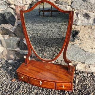 George 3rd Shield Shape Dressing Mirror