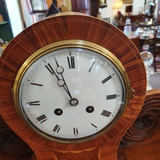 French Kingwood 8 Day Mantel Clock
