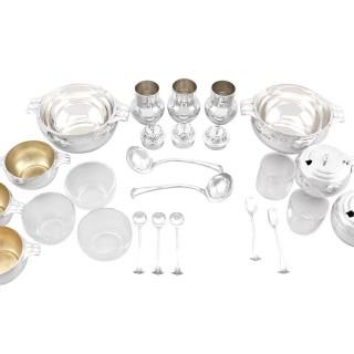 Sterling Silver Condiment Set - Art Deco - Antique George V (1934)