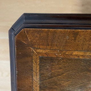An early 20th century walnut collectors cabinet