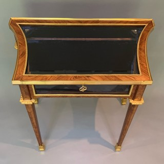 Antique French Kingwood & Ormolu Mounted Table Display Cabinet