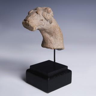 Mesopotamian Terracotta Ram's Head Fragment