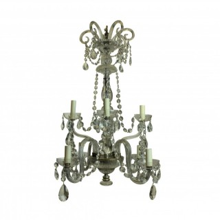 A FRENCH EIGHT ARM CUT GLASS CHANDELIER
