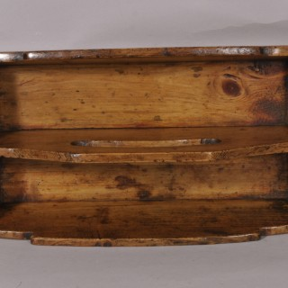 Antique Treen 19th Century Welsh Pine Two Division Cutlery Tray
