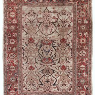 Rare ivory antique Ziegler carpet