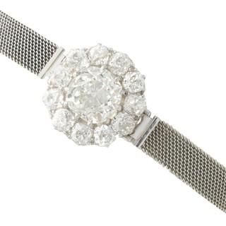 7.47ct Diamond and 18ct White Gold Bracelet - Antique Circa 1910