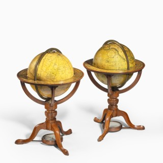 A rare pair of 9 inch table globes by Cary, each dated 1816