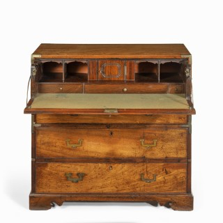 An Anglo-Chinese hardwood naval officer's campaign chest