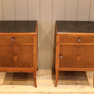 Pair Of French Art Deco Bedside Cabinets