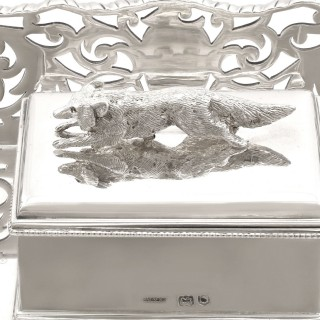 Sterling Silver Gallery Inkstand - Antique Victorian (1898)