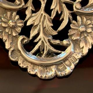 Antique Edwardian Sterling Silver & Tortoiseshell Desk Top Letter Clip 1901