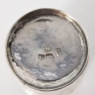 William and Mary Chinoiserie Silver Beaker