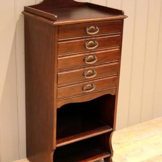 Walnut Finish Music Cabinet