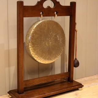Oak Framed Floor Standing Gong