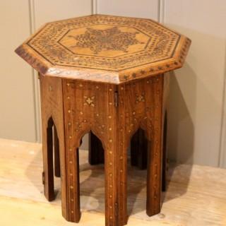Small Anglo Indian Hexagonal Teakwood Table